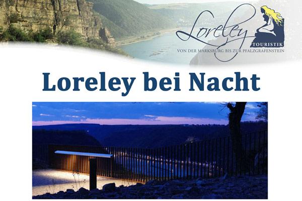 Veranstaltung: Die Loreley bei Nacht