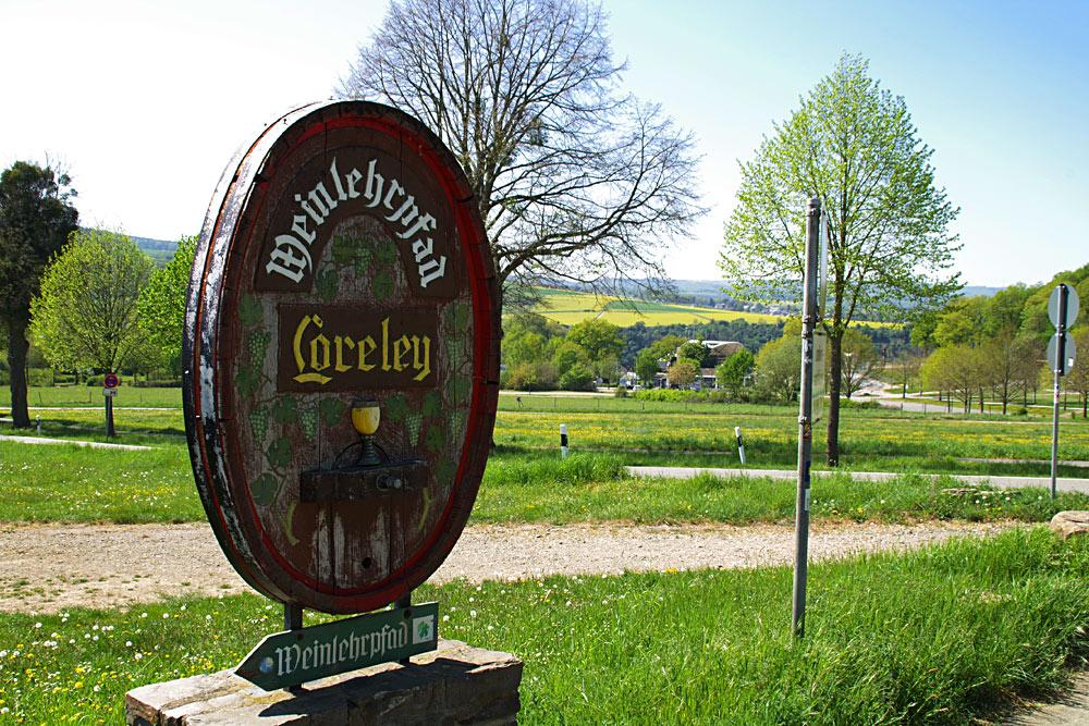 Weinlehrpfad auf der Loreley