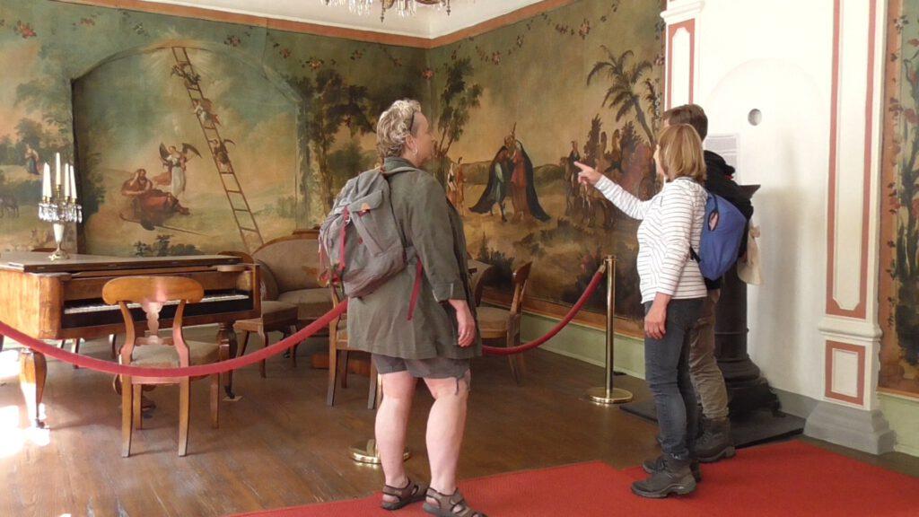 Textiltapete im Blüchermuseum Kaub