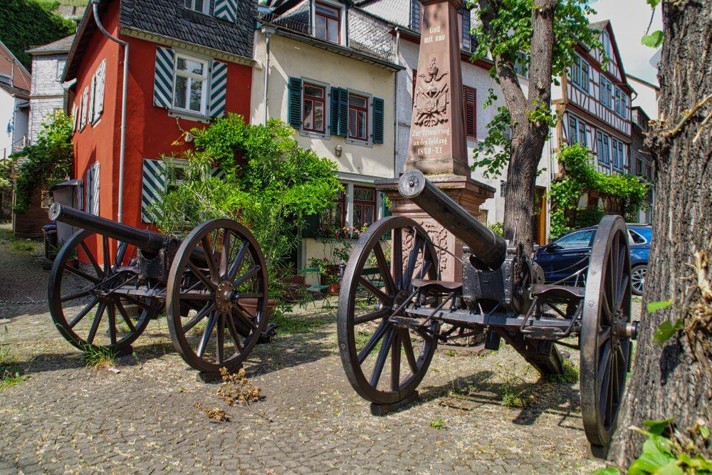 Kanonen auf dem Marktplatz in Kaub