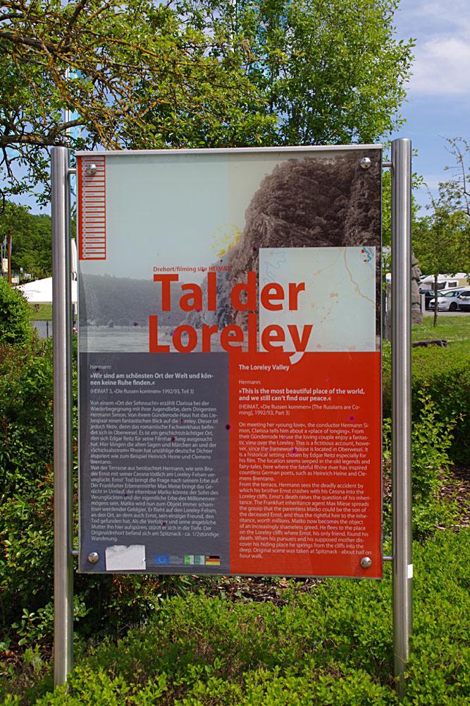 Die Loreley - Hinweistafel