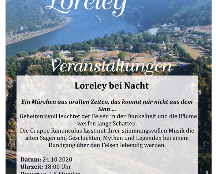Die Loreley bei Nacht – Oktober